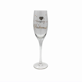 Mad Dots Bridesmaid Glass Flute