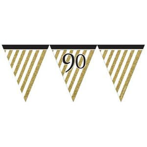 Black & Gold 90 Flag Bunting