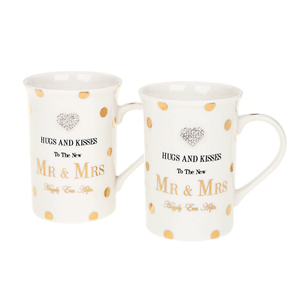 Mad Dot Mr&Mrs Right Mugs S2