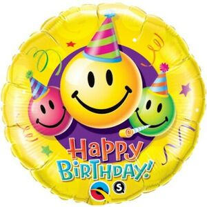 Emoji Happy Birthday Smiley Faces Balloon