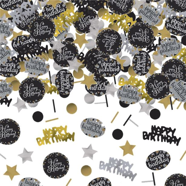 Table/Invites Confetti - Sparkling Celebration 'Happy Birthday'  - 34g