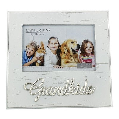 Frame White Antique -  Grandkids