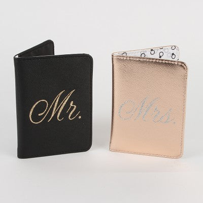 Passport Holders - Always Forever Mr Mrs Passport Holder
