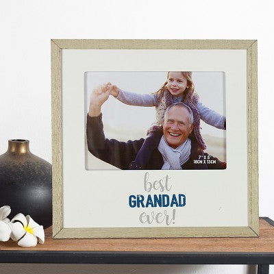 "Best Grandad Ever - MDF Photo Frame 7"" x 5"""