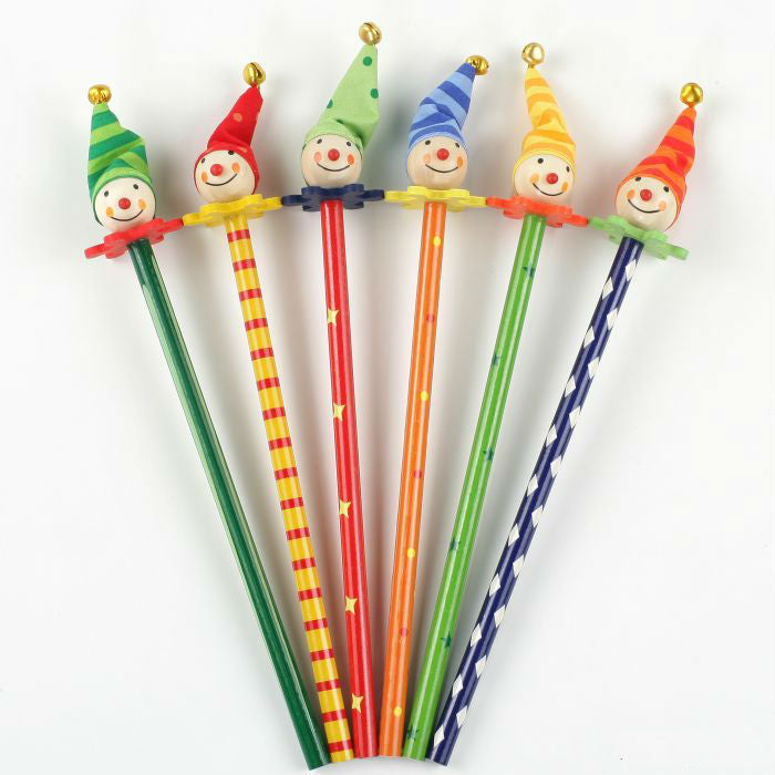 Clowns wooden pencils