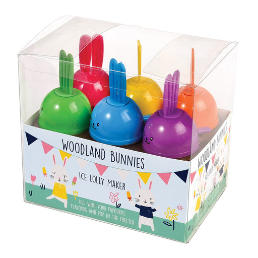 Set of 6 Woodland Bunnies - Ice Lolly Makers