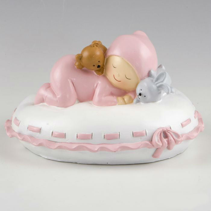Cake Topper Money box baby pink pillow 16x10x14cm