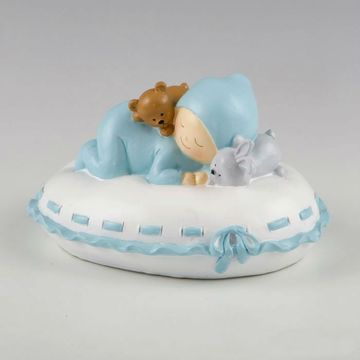 Baby Blue Pillow - Cake Topper / Money Box