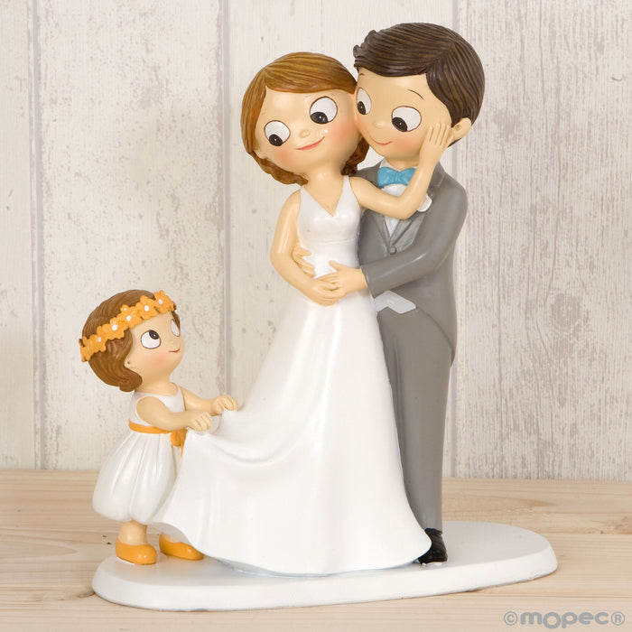 Cake Topper Pop&Fun With Little Girl 21.5 cm