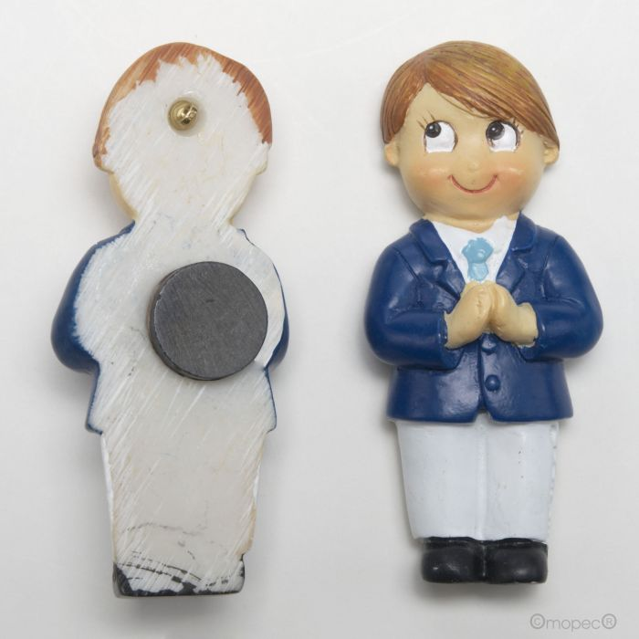 Communion Boy with Blue Jacket Magnet