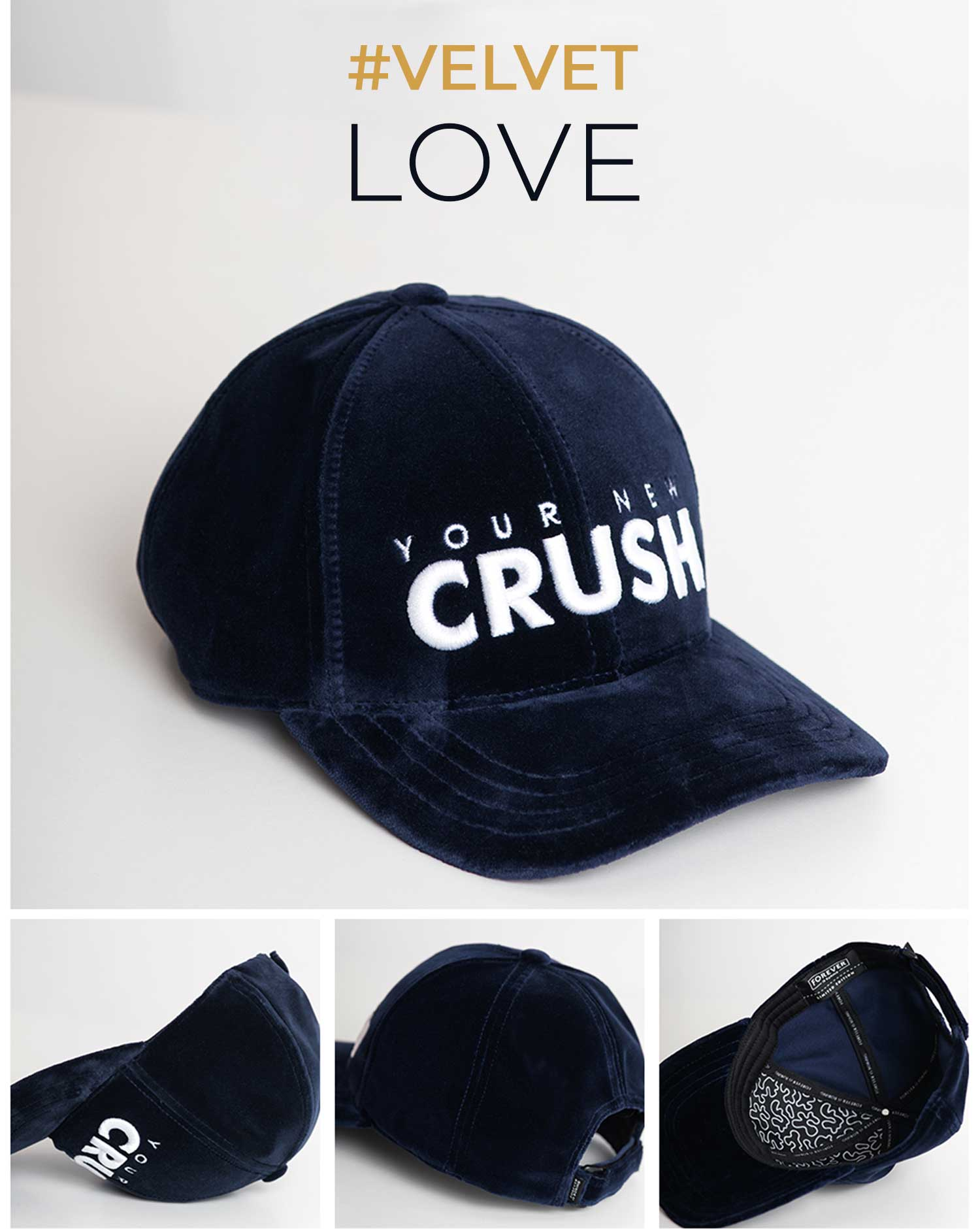 BONE GORRA CAP CRUSH BL VELVET 6