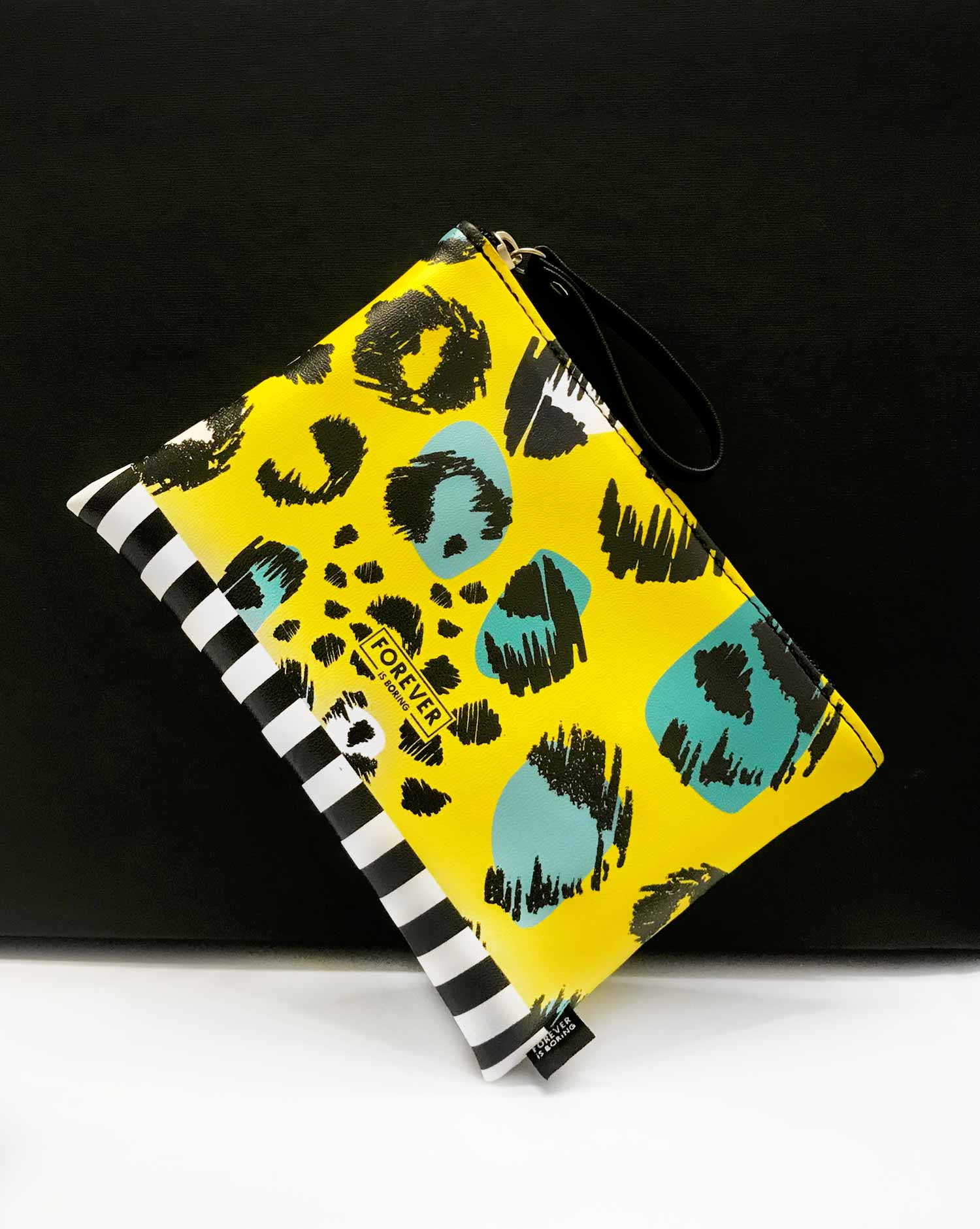 clutch make up bag leopard yl 2