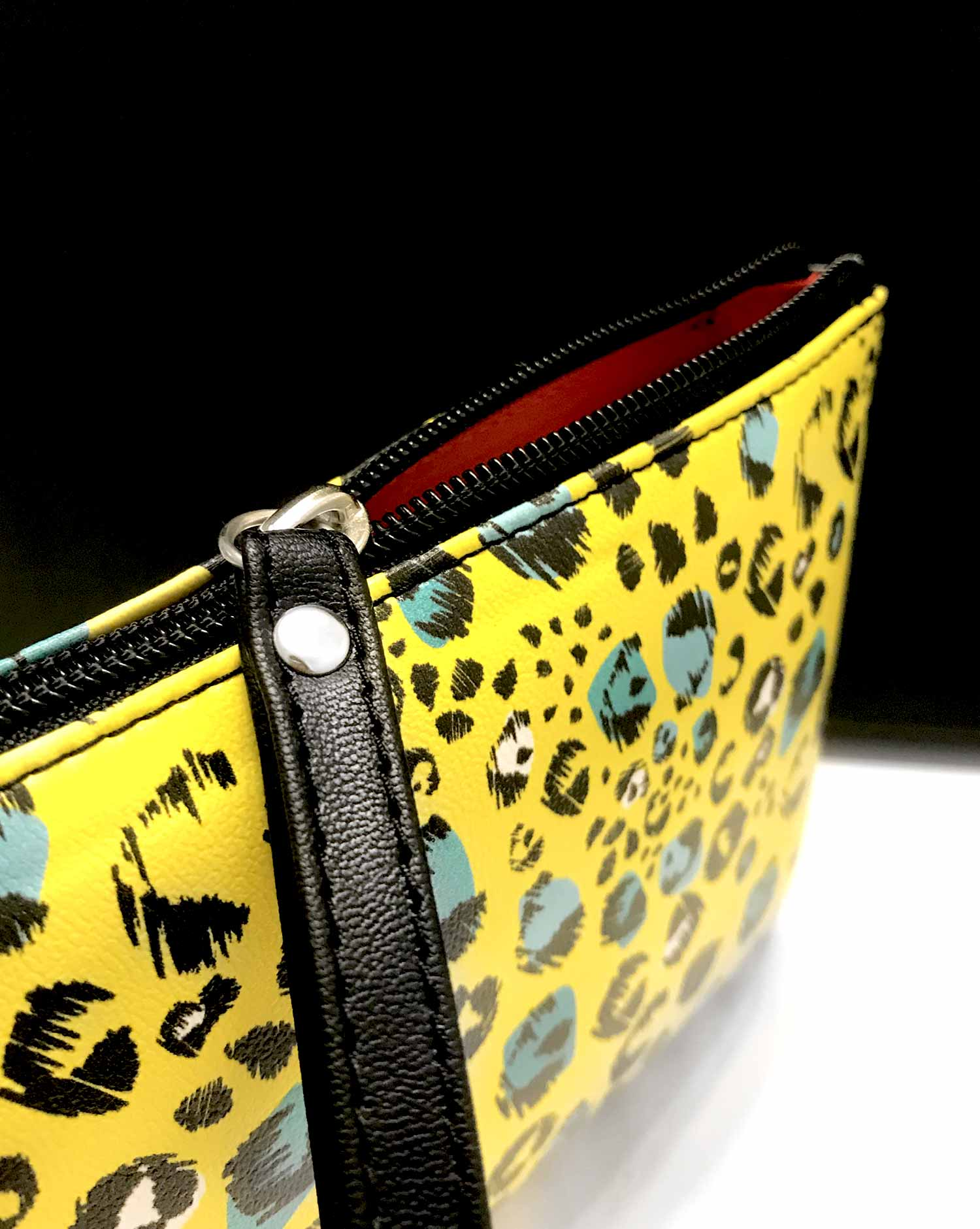 clutch make up bag leopard yl 1