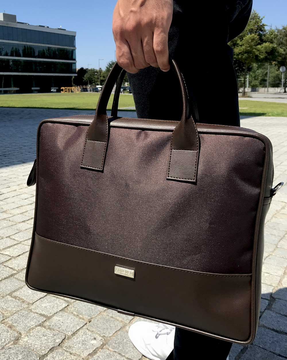 briefcase portaordenador pasta BOLD deep dive brown 2