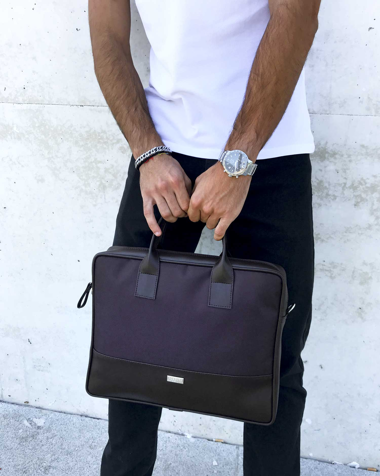 briefcase portaordenador pasta BOLD deep dive brown 5