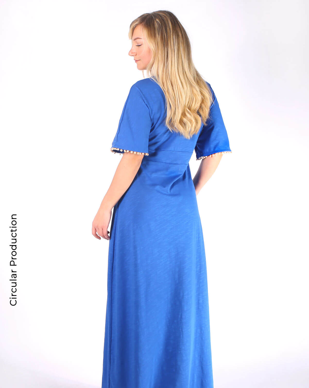 royal blue long dress vestido comprido longo 2