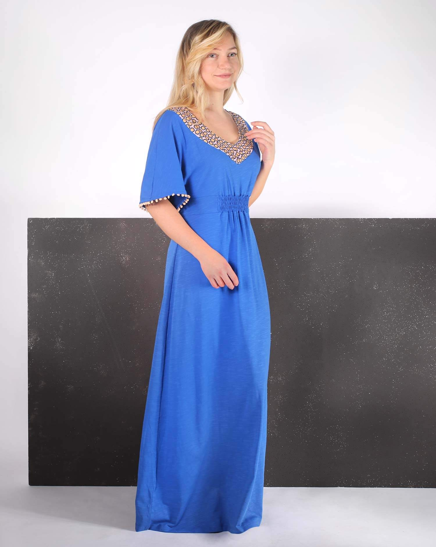 royal blue long dress vestido comprido longo 4