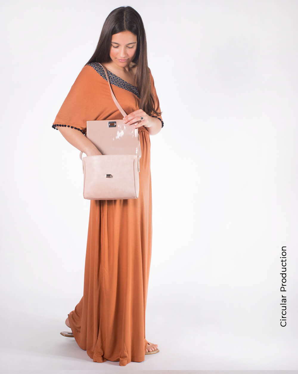 Long Dress Vestido Comprido Terracotta