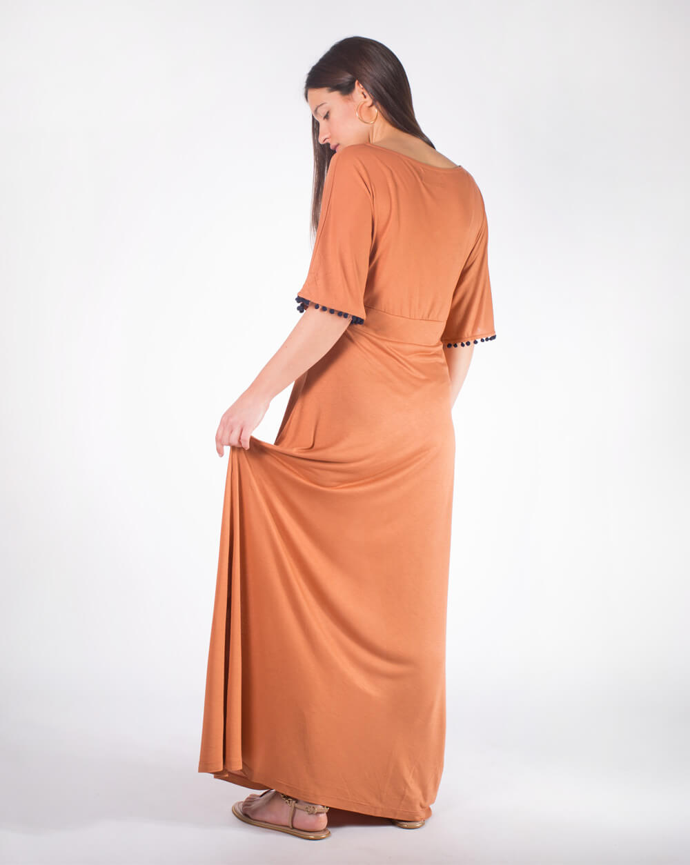 Long Dress Vestido Comprido Terracotta 4