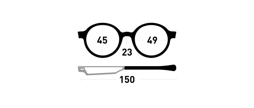 Cinematiq Eyewear size guide