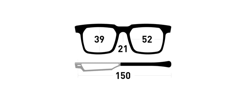 Cinematiq Eyewear Marius size guide