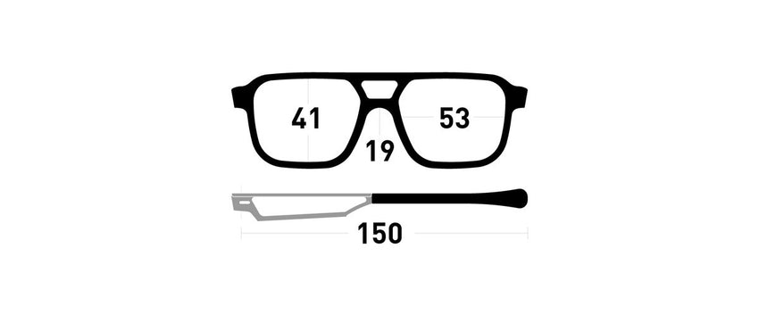 Cinematiq Eyewear Niven size guide