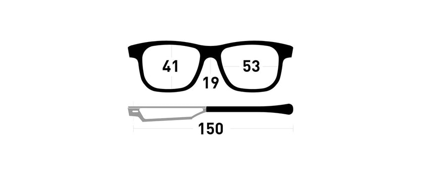Cinematiq Eyewear Powell size guide