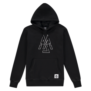 WORLD COLLECTION OUTLINED LOGO HOODIE BLACK