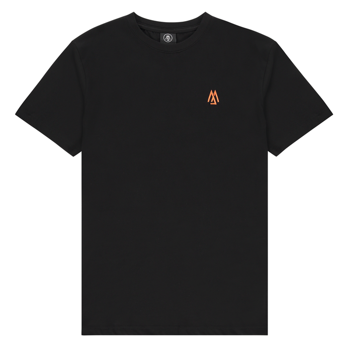 BLACK AND ORANGE TEE
