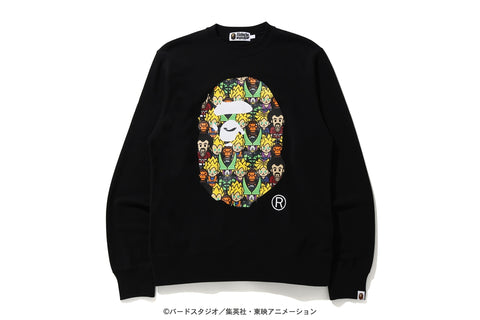 [M~L] DS! Bape Dragon Ball Z Baby Milo Big Ape Head Crewneck Sweatshirt Black