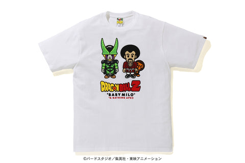 [M] DS! Bape Dragon Ball Z Baby Milo Mr. Satan and Cell Tee White
