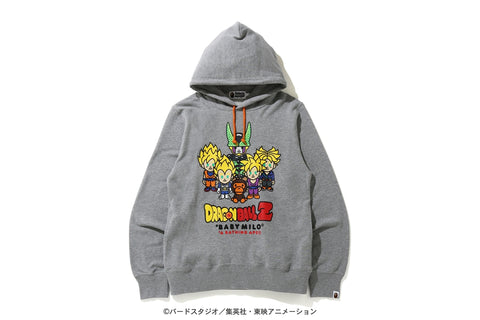 [M~L] DS! Bape Dragon Ball Z Baby Milo Super Saiyan and Cell Hoodie Sweatshirt Grey