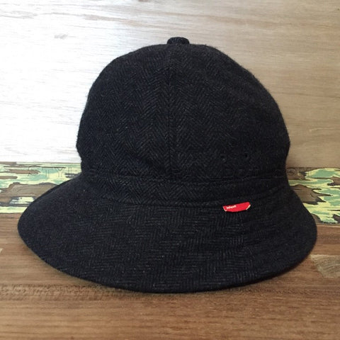 [M] WTaps Black Watch Herringbone Wool Bucket Hat Charcoal