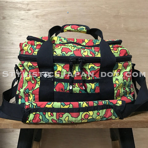 A Bathing Ape Bape Psyche Camo Duffle Bag Red