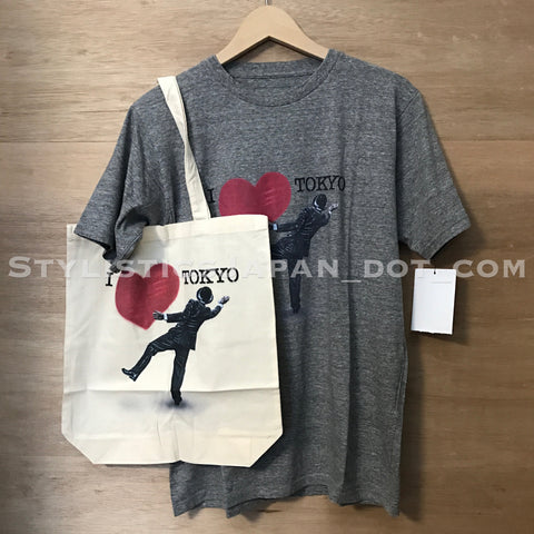 DS! Sophnet x Nick Walker Tee and Tote Bag Set Grey