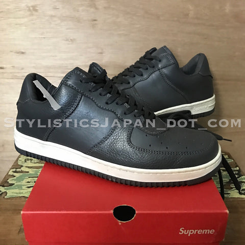 [10] Supreme Vintage Downlow Leather Shoes Grey