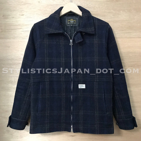 [S] WTaps Melton Wool Grease Jacket Navy