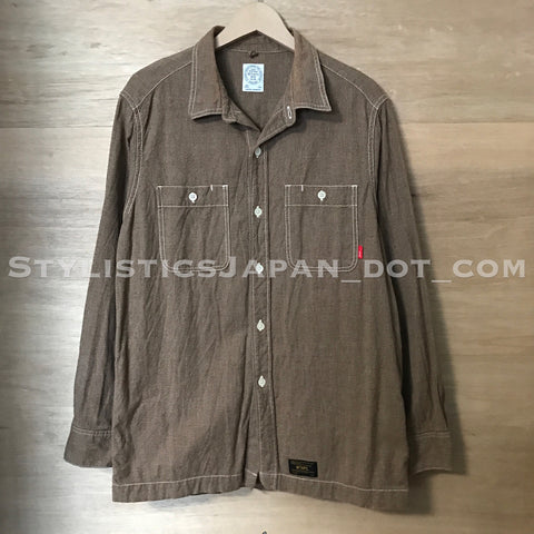 [L] WTaps Union Chambray L/S Shirt Brown