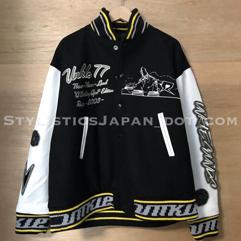 DS! A Bathing Ape Bape x Unkle Wool/Leather Stadium Jacket M~L/XL