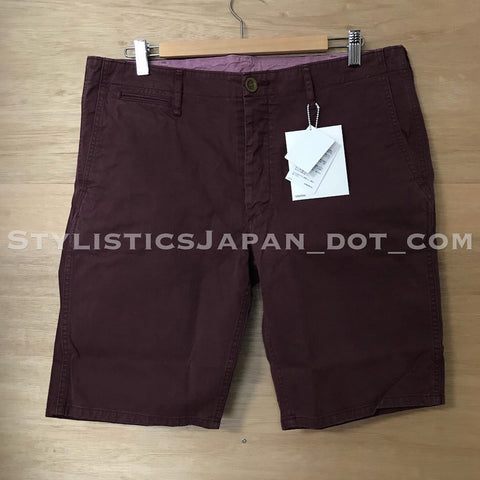 [XL] DS! Visvim Cut Off Chino Shorts Burgundy
