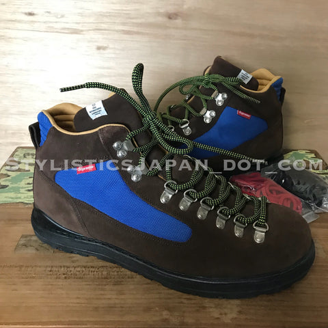 Visvim x Supreme Serra Ascent Boots Brown/Blue 9.5