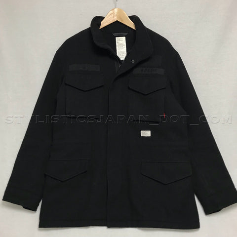 [L] WTaps Destroy Tradition Wool M-65 Jacket Black