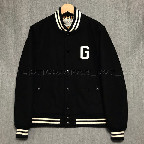 [M] Wacko Maria Guilty Parties Wool Stadium Jacket Black