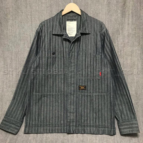 [L] WTaps Hell In Bone Chore Jacket Indigo