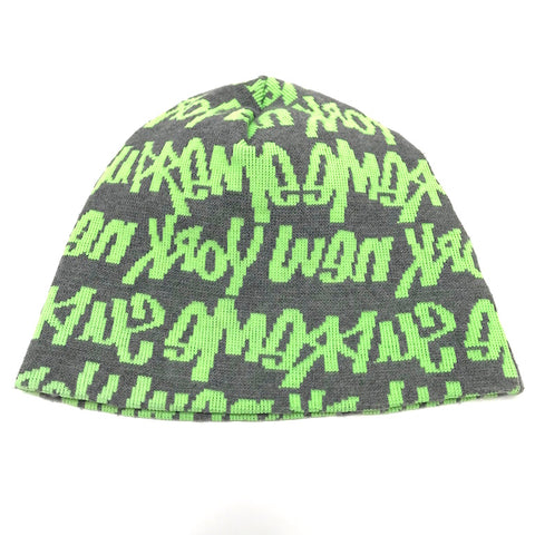 Supreme Vintage Graffiti Script Logo Beanie Dark Grey/Green