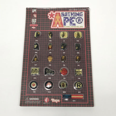 DS! A Bathing Ape Bape (Futura) Vintage Pin Badge Set