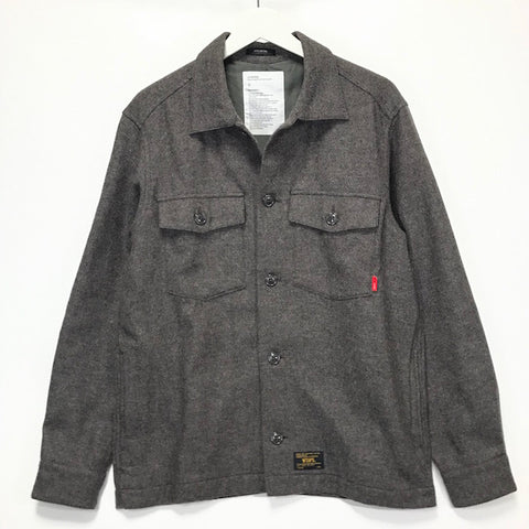 [L] WTaps Wool BUDS L/S Shirt Brown