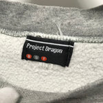 OFFERS OK! [L] Project Dragon Vintage Embroidered Crewneck Sweatshirt Grey
