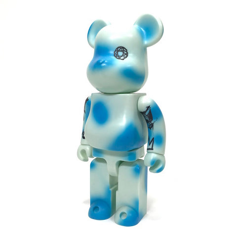 Unkle (Futura) x Medicom James Lavelle 400% Bearbrick Blue
