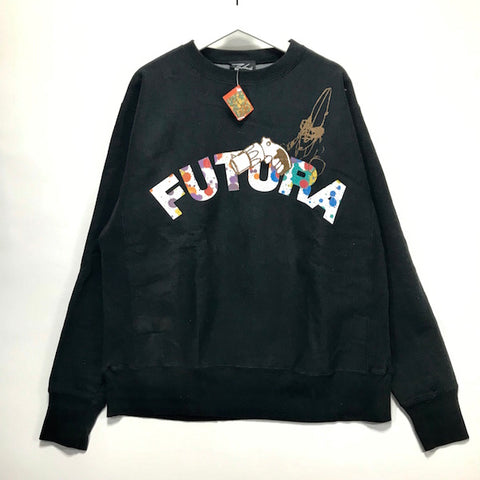 OFFERS OK! [L/XL] DS! Futura Laboratories Vintage Pointman Arc Logo Crewneck Sweatshirt Black
